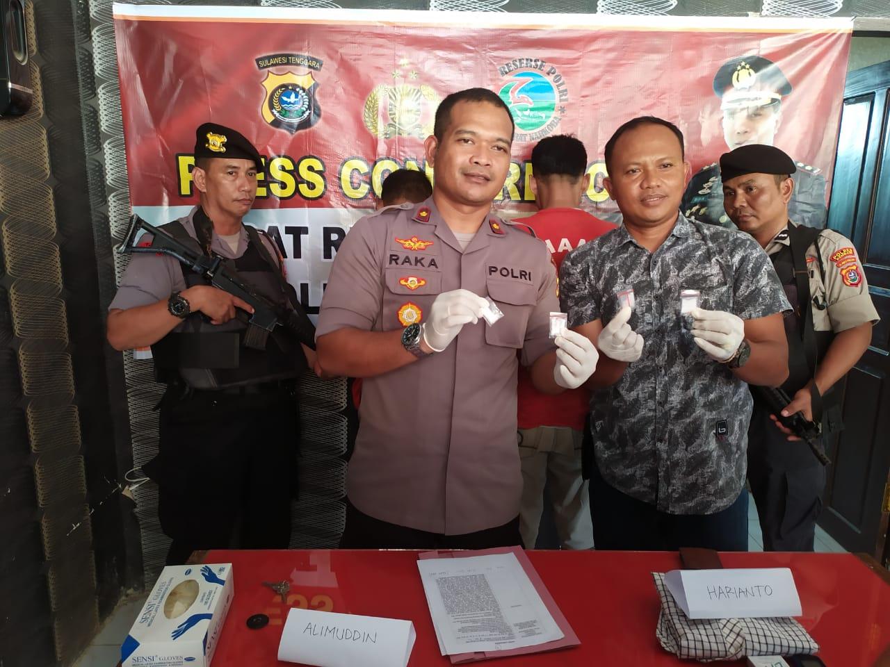 Satuan Narkoba Polres Kendari amankan dua pengedar Narkoba. (Foto : Istimewa)