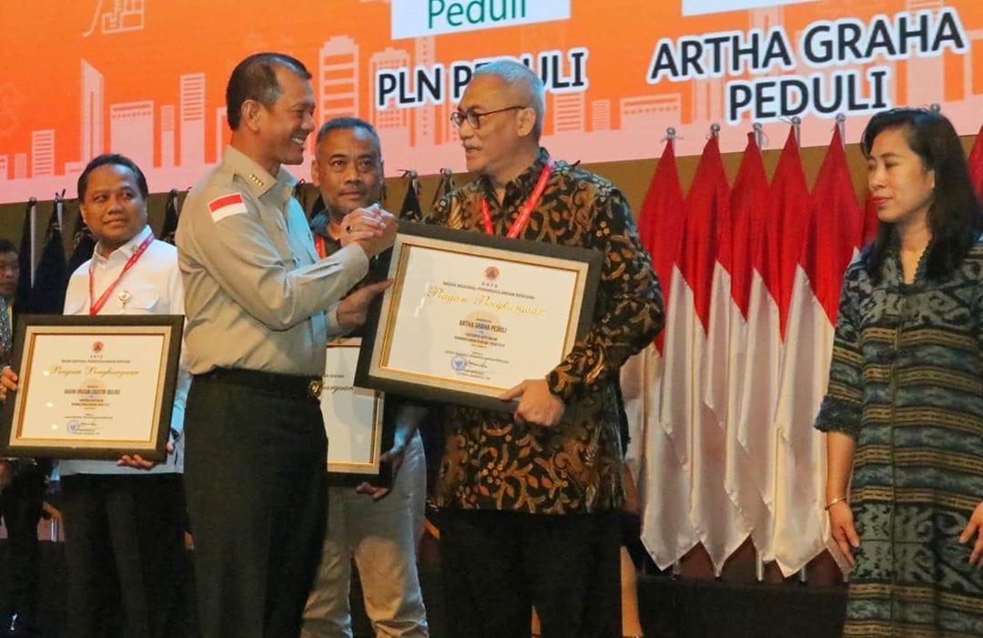 Artha Graha Peduli terima penghargaan BNPB