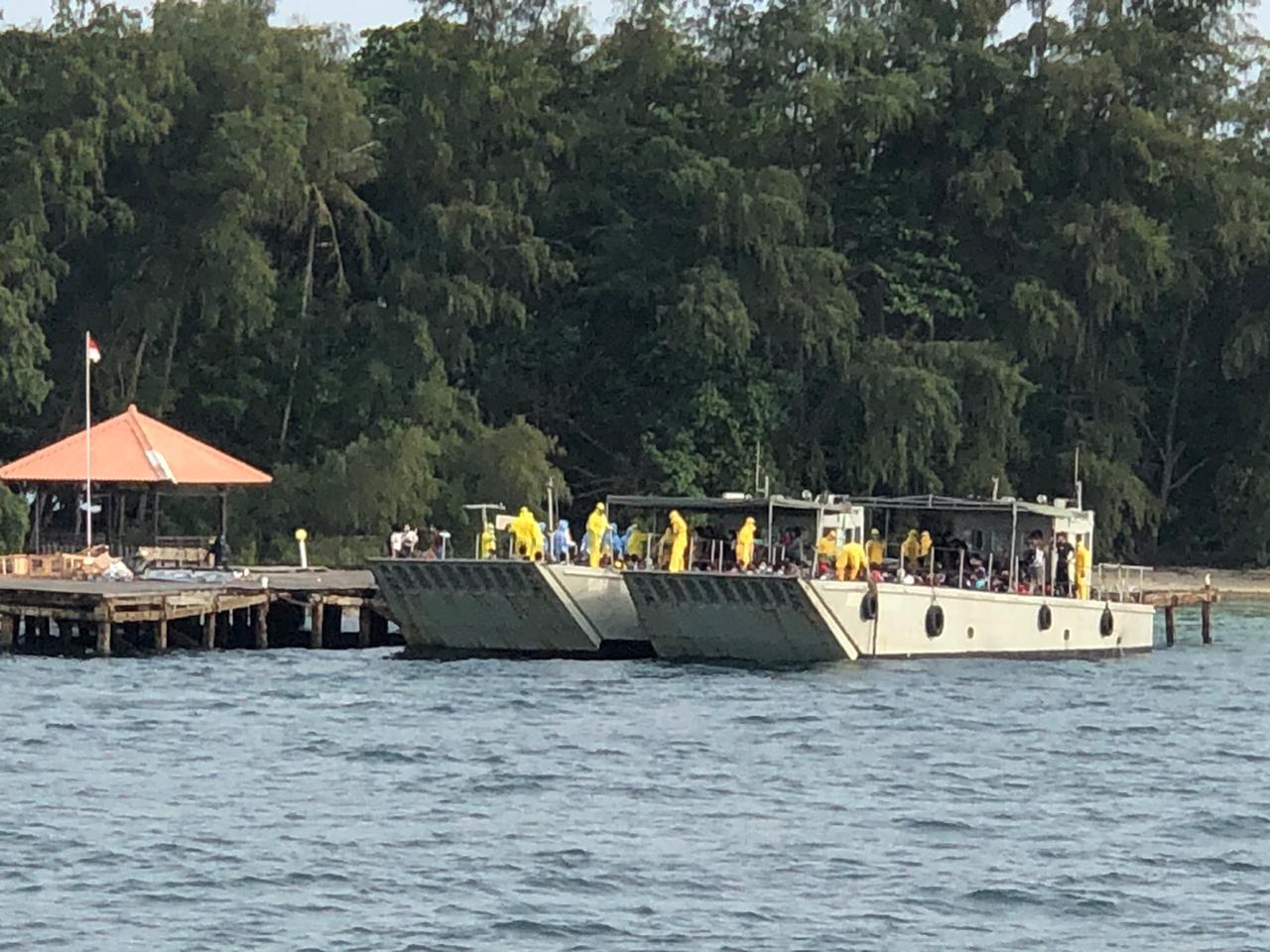 Evakuasi 188 WNI di Kapal Pesiar World Dream Dibawa ke Pulau Sebaru. (foto: wartabhineka)