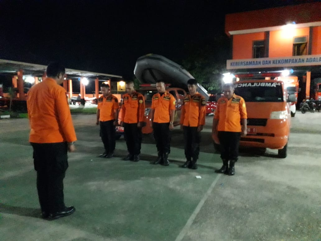 Basarnas Sultra persiapan pencarian korban, (8/2/2020). (foto: istimewa)