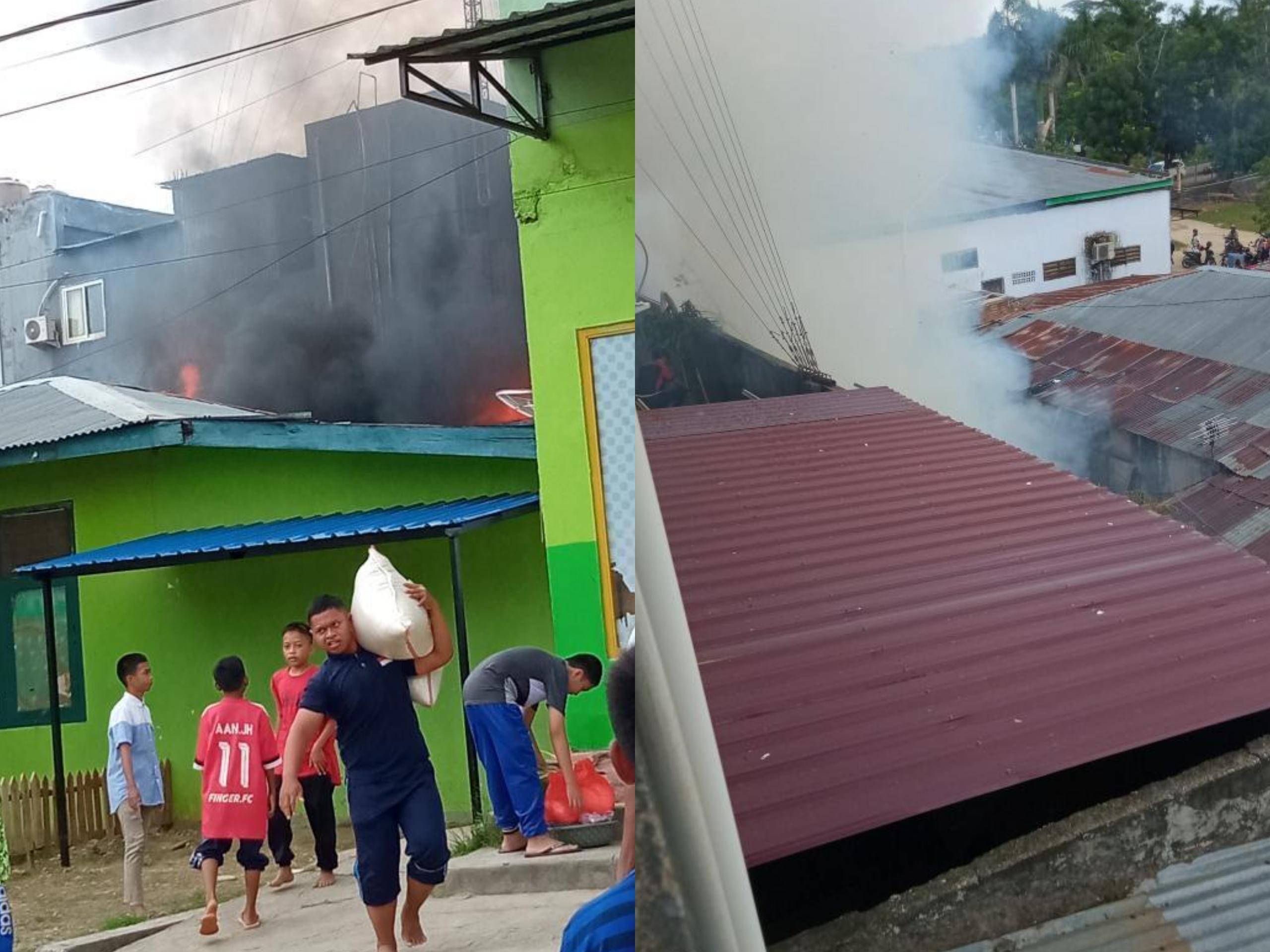Kebakaran di area Pesantren Ummusshabri Kendari. (Foto : Istimewa)