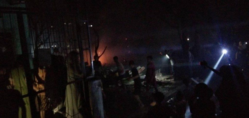 Kondisi rumah usai kebakaran 19/2/2020 malam. (Foto : Istimewa)