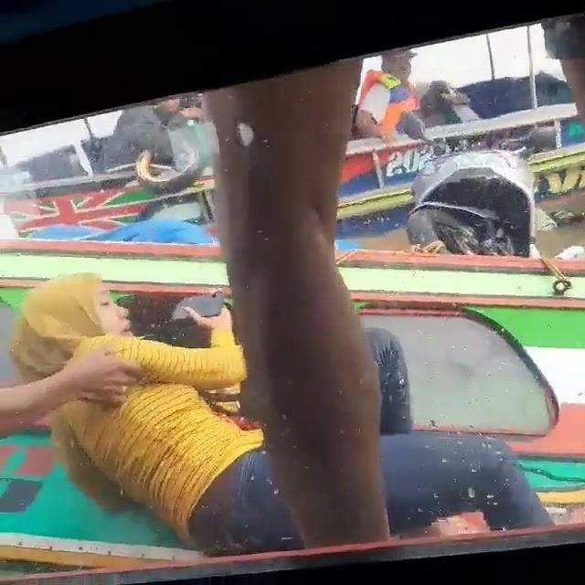 Kecelakaan Kapal Speedboat di Muara Karang Banyuasin. (screenshot video)