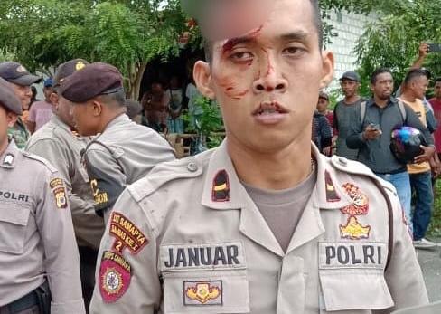Eksekusi Lahan di Maluku Ricuh, Polisi Lepaskan Tembakan ke Udara. (foto: istimewa)