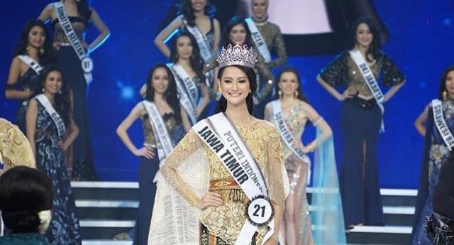Raden Roro Ayu Maulida Putri terpilih menjadi juara Puteri Indonesia 2020. (foto: SCTV)