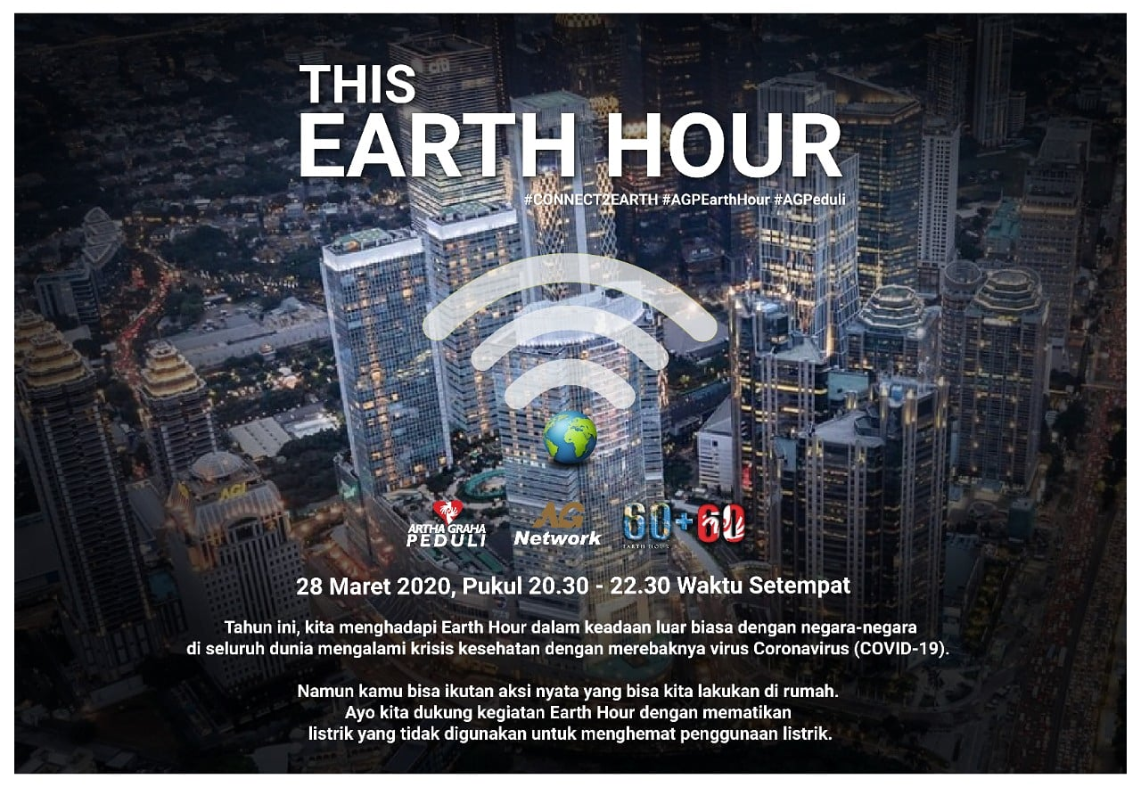 AGP Gelar Earth Hour 2020 Secara Virtual