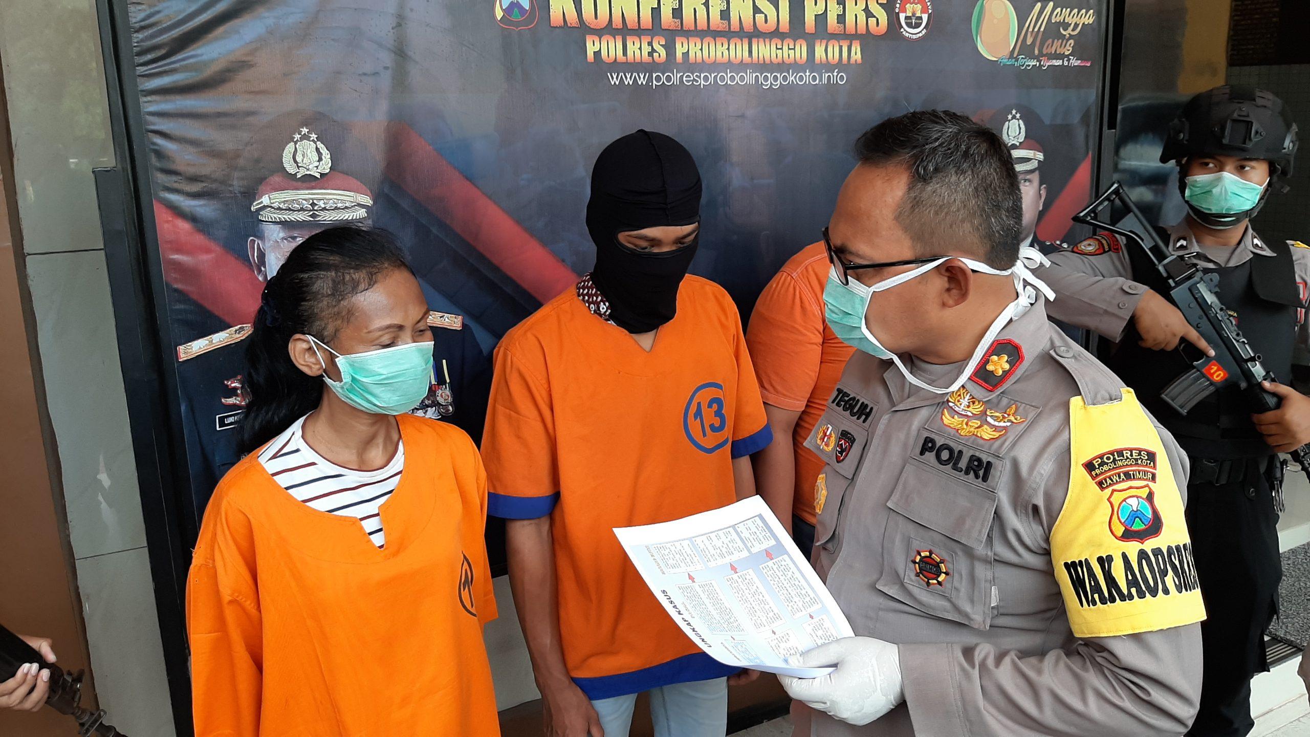 Janda 1 Anak Edarkan Sabu di Probolinggo, Dibekuk Polisi