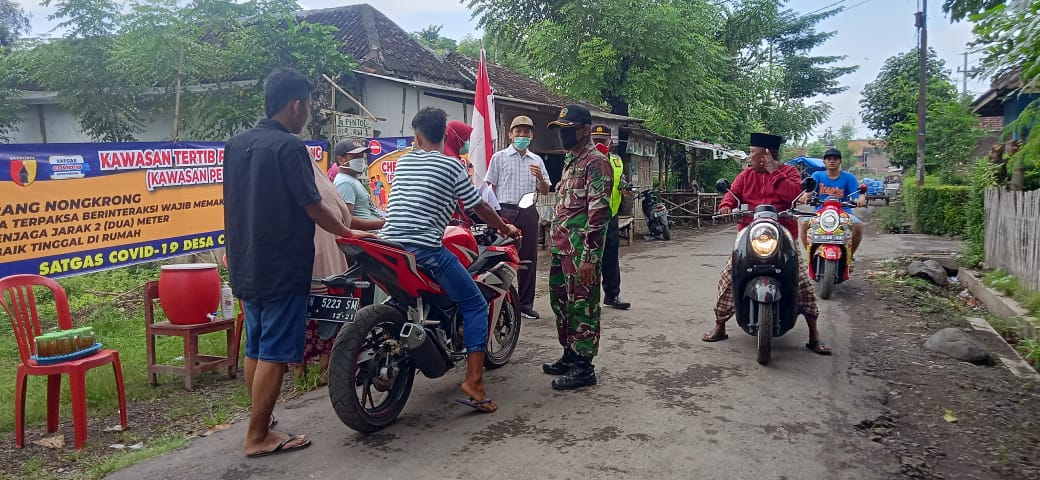 Dukungan Masyarakat Sangat Dibutuhkan Pada Keberadaan Posko Penanggulangan Covid-19. (foto: Risty)