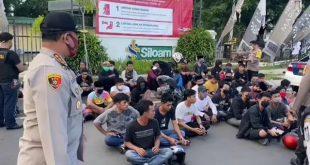 Balap Liar di Makassar saat PSBB, 49 Remaja Diamankan dan Disanksi