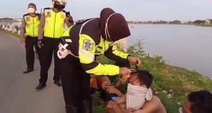 Pandemi Corona, Polisi Cukur Rambut Pelaku Balap Liar di Makassar