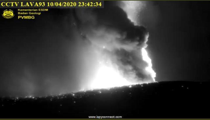 Gunung Anak Krakatau Erupsi, Tinggi Kolom Abu 657 Meter, Status Waspada