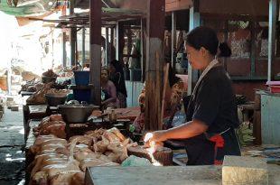 Pandemi Corona dan Jelang Lebaran, Harga Daging Ayam dan Sayur Mayur Naik di Pasar Tradisional Kota Probolinggo