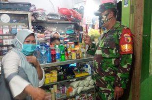 Babinsa Koramil 0820/04 Bantaran Gencar Tegakkan Disiplin Protokol Kesehatan