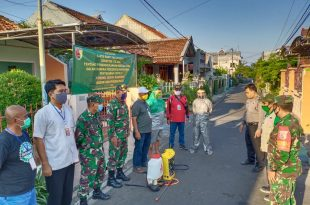 Koramil 0820/01 Kanigaran Laksanakan Karya Bhakti TNI Penanggulangan Bencana Sosial