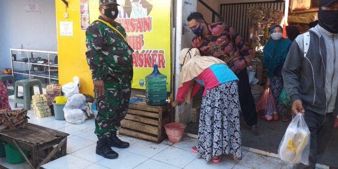 Tanamkan Kepatuhan Protokol Kesehatan di Pasar Tradisional