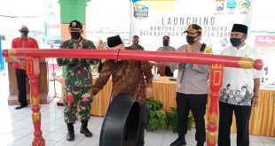 Persiapan New Normal Terus Launching Kampung Tangguh di Kecamatan Tongas Kabupaten Probolinggo