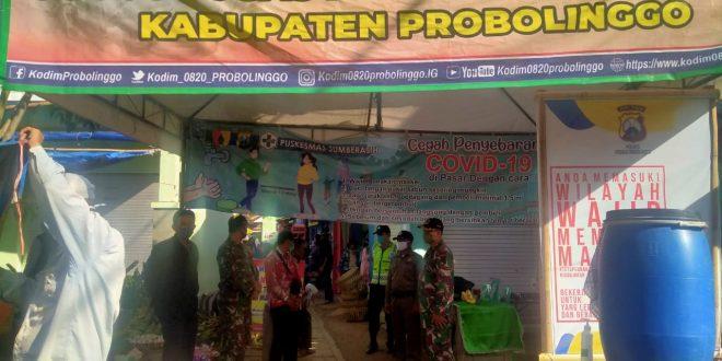 Pasar Muneng Kecamatan Sumberasih Tak Luput dari Operasi Pendisiplinan