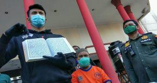 Pengedar Narkoba Simpan Sabu dalam Al-Qur'an Ditangkap di Surabaya. (foto: sindikat post)