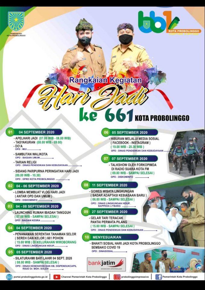 Rangkaian Kegiatan Hari Jadi ke-661 Kota Probolinggo