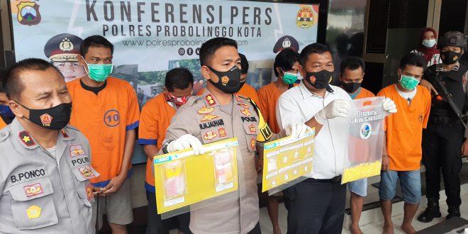 Perangkat Desa dan 8 Pelaku Kejahatan Narkoba Ditangkap Jajaran Polres Probolinggo Kota